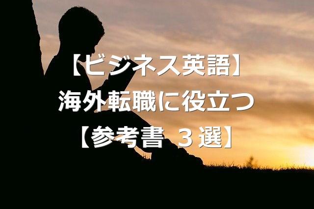 ビジネス英語で海外転職に役立った参考書3選【会話・メール・単語】