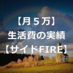 【月5万】2021年4月の生活費の実績【サイドFIRE生活】