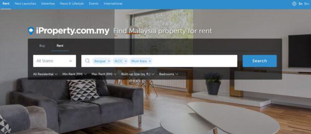 賃貸検索サイト「iProperty」のトップページ