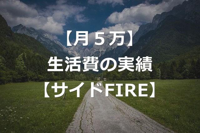 【月5万】2021年6月の生活費の実績【サイドFIRE生活】