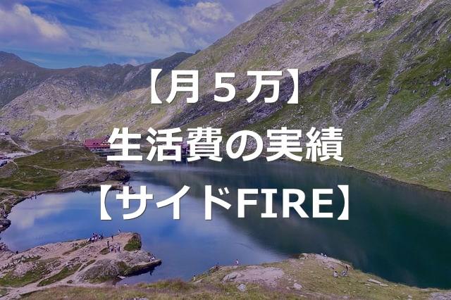 【月5万】2021年7月の生活費の実績【サイドFIRE生活】